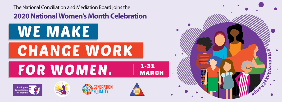 2020 National Women's Month Theme: We Make Change Work for Women